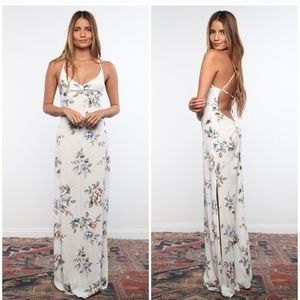 FLYNN SKYE ROSE SATURDAZE MAXI DRESS PLANET BLUE